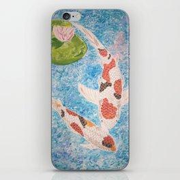 Koi in water iPhone Skin