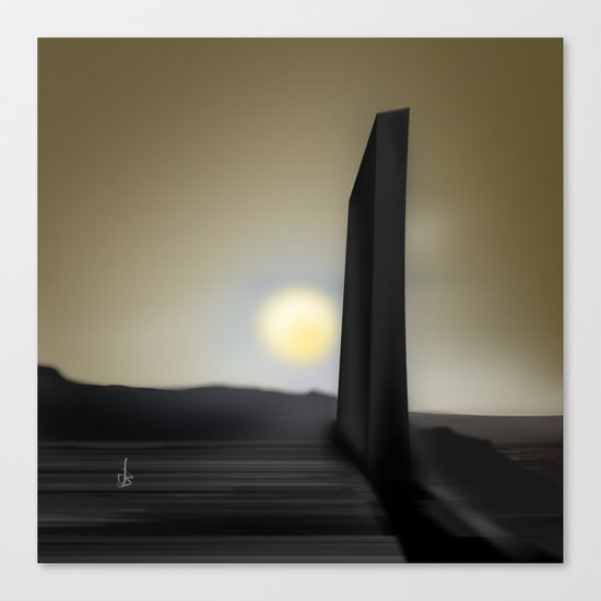 Martian Ancient Alien Artifact Canvas Print