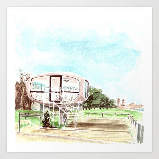 Lifeguard tower Binz Art Print