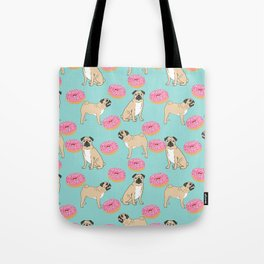 Pug lover food dog breed gifts pure breed pugs donuts doughnuts Tote Bag