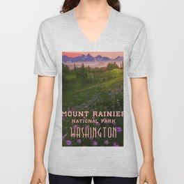 Washington, Mount Rainier National Park Unisex V-Neck