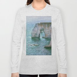 Claude Monet, French, 1840-1926 Manne-Porte, Etretat Long Sleeve T-shirt