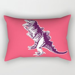 Dino Pop Art - T-Rex - Neon Pink & Dark Purple Rectangular Pillow