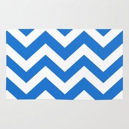 Navy blue (Crayola) - turquoise color - Zigzag Chevron Pattern Rug
