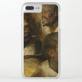 Four Studies of a Head of a Moor by Peter Paul Rubens Clear iPhone Case