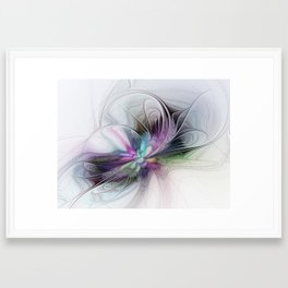 New Life, Abstract Fractals Art Framed Art Print