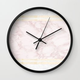 Pastel Marble Composition #7 Wall Clock