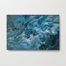 Blue Ice Glacier in Norway - Landscape Photography Metal Print