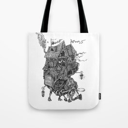the wandering library 2 Tote Bag