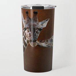 Love You - Affectionate Giraffes Travel Mug