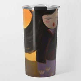 Kokeshi Sakura Travel Mug