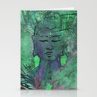 queer Stationery Cards featuring Queer Buddha ~ Wisdom II by Jamila