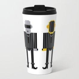 Pixel Daft Punk Metal Travel Mug