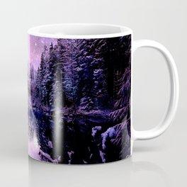 A Cold Winter's Night : Purple Lavender Winter Wonderland Coffee Mug