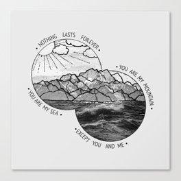 mountains-biffy clyro Canvas Print