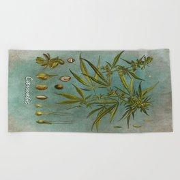 Cannabis #cannabis Beach Towel
