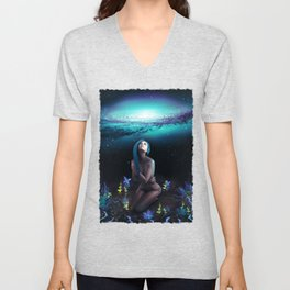 StarDust - Galaxy - Universe - Visionary - Manafold Art Unisex V-Neck