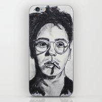 robert downey jr iPhone & iPod Skins featuring Robert Downey Jr. by Haley Erin