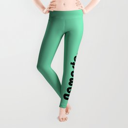 Namaste Yoga Print in Mint Green Leggings