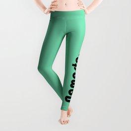 Namaste Yoga Print in Mint Green Leggings