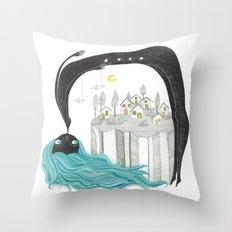 Balada nocturna- Noche Throw Pillow