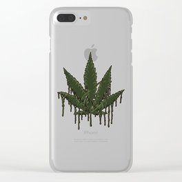 Melting Cannabis Leaf | Marijuana THC CBD Stoner Clear iPhone Case