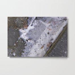 Ice on Road Metal Print