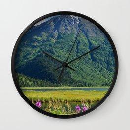 July at Tern Lake Wall Clock