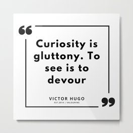 82 | Victor Hugo Quotes | 190830 Metal Print