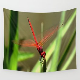 Beautiful Firecracker Dragonfly Wall Tapestry