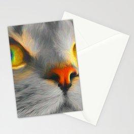 Big gray cat Stationery Cards