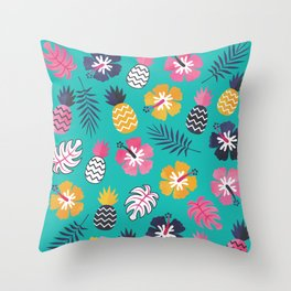 FOREVER SUMMER on MINT Throw Pillow