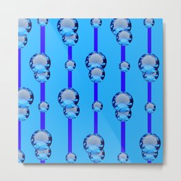 BLUE TOPAZ GEMS MODERN ART DESIGN Metal Print