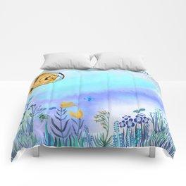 Blue Garden II Comforters