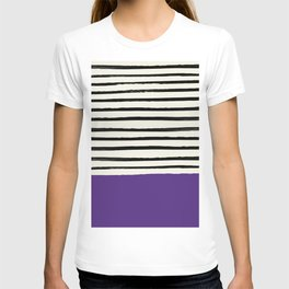 Purple Grape x Stripes T-shirt