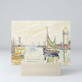 """Paul Signac """"View of Les Sables d'Olonne"""" Mini Art Print"""