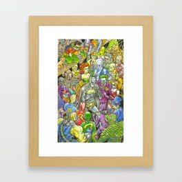 Rogues Gallery Framed Art Print