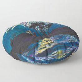 Crescent City Fourth of July ~ Battery Point Lighthouse Floor Pillow