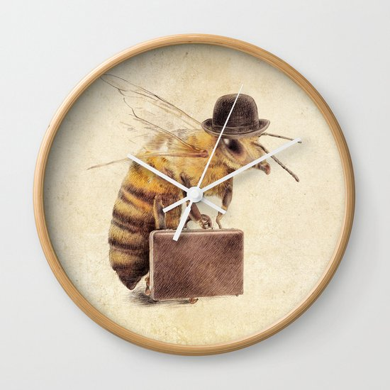 Worker Bee Wall Clock