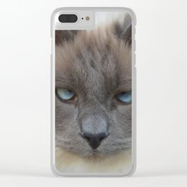 Blue Eyed Boy Clear iPhone Case