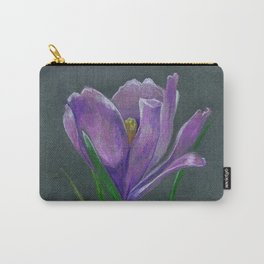 SIngle crocus flower sketch  hand drawing Carry-All Pouch