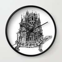 discworld Wall Clocks featuring Turtle City by Meridith Rodgman