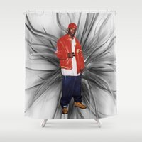 2pac Shower Curtains featuring Big L  by Gold Blood