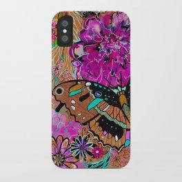 Neon Butterflies iPhone Case