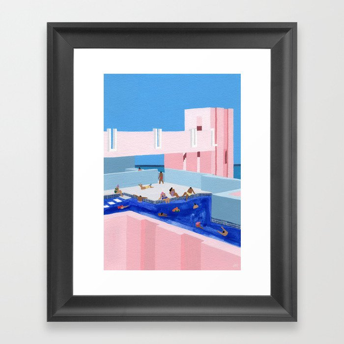 Spain Pool Gerahmter Kunstdruck