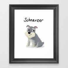 Schnauzer - Cute Dog Series Framed Art Print