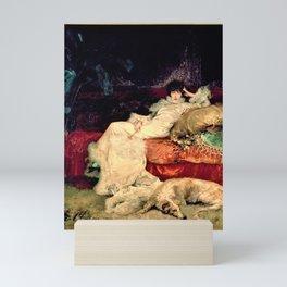 Sarah Bernhardt reclining on couch portrait 1 Mini Art Print