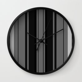 Strips - gray and black. Wall Clock