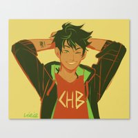 percy jackson Canvas Prints featuring percy by viria
