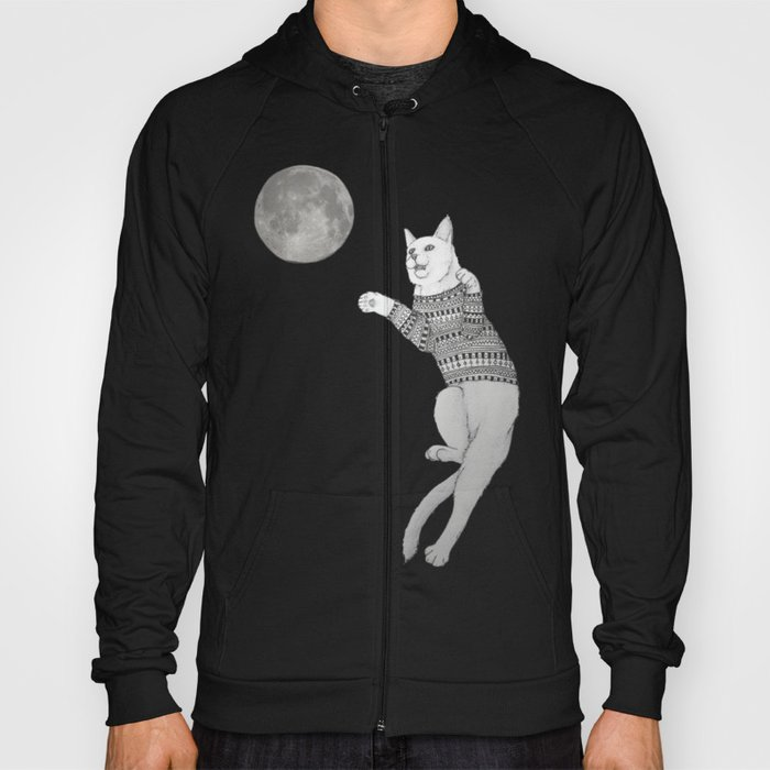 Cat trying to catch the Moon Hoody
